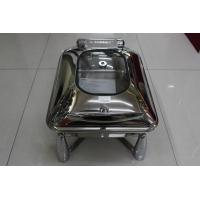 Food Warm Stainless Steel Cookwares , Hydraulic Induction Chafing Dish Manufactures