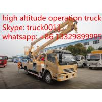 dongfeng duolika14-16m overhead working truck for export, high altitude operation truck Manufactures