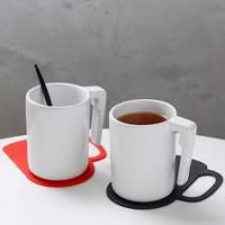 Heart shape coaster cup placemats set Manufactures