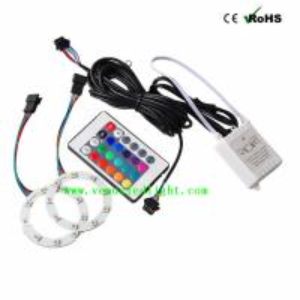 60MM LED COB Auto Angle Eyes Rings Halo Flashing Remote kit Multi-color RGB 5050 18 led Manufactures