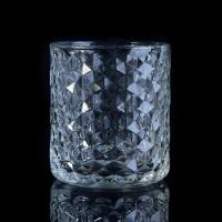 Popular Home use candle glass containers Custom Clear Diamond Shape Manufactures