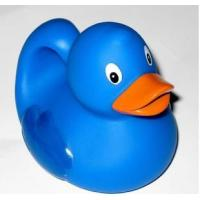 Educational Bath Toys Baby Blue Rubber Ducks Floating 8.3cm Length 40 Gram Manufactures