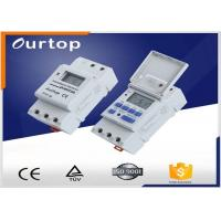 White Color Programmable Digital Timer Switch , Weekly Program Timer Switch Manufactures