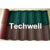 Iron Colored Stone Coated Roof Tile Machine , Corrugated Automatic Roof Tile Making Machine Manufactures