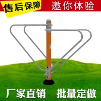 Reliable Outdoor Workout Equipment , Open Air Fitness Equipment Steel Material Manufactures