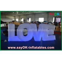Quality Colorful Inflatable Lighting Decoration Letter Love With Led light For Party or Wedding Decoration for sale