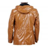 Customized Size, Stylish, Black / Coffee Urban PU  Hooded Leather Coat FOR Charm men Manufactures