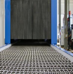 Pass Through Wire Mesh Shot Blasting Machine With 800/1200 Mm Wire Mesh Width Manufactures