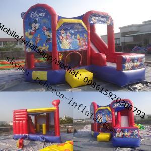 Inflatable Castle Disney Princess Bounce House Inflatable Bounce House and Slide Combo Manufactures