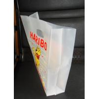 Quality Stand Up HDPE Plastic Clear Die Cut Handle Bags Quad Seal Pouch for sale