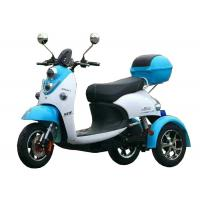 Foldable Electric Three Wheel Motorcycle 60V 800W Hub Motor 20AH Battery Plastic Body Manufactures