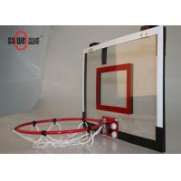 Door Mounted Mini Basketball Hoop Red Color Easy Set Up For Mobile Play Manufactures