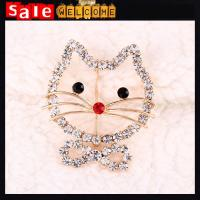 Cute Hello Kitty Animal Cat Pattern 18k Gold Full Crystal Brooch Suit Scarf Shawl Pin Manufactures