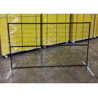 """Quality 6ft x 10ft canada standard temporary fence 2"""" x 4""""X10.5GA aperture pipe 1""""x1'x1.7GA thick brace 3/4""""x19GA POWDER coated for sale"""