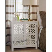 Wooden Door White Mirrored Buffet Cabinet , Living Room Mirrored Buffet Furniture Manufactures