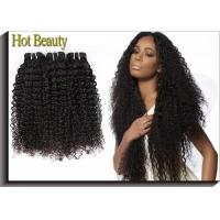 No Tangle Kinky Curly Black Virgin Hair , 5A Virgin Brazilian Hair Manufactures