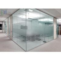 Quality Clear Living Room Glass Office Partitions , Aluminium Partition Wall For for sale