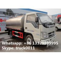 Quality factory direct sale forland LHD/RHD 3m3 food grade milk tank truck, best price for sale