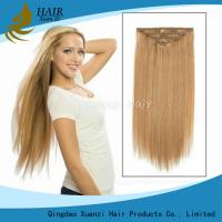 Buy cheap Soft Double Drawn Unprocessed Clipin Hair Weft Blonde Color Clip In Hair from wholesalers