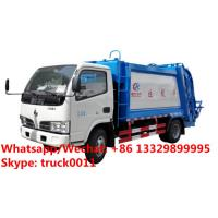 HOT SALE!4tons rear loader garbage truck for sale, Factory sale good price Dongfeng 4*2 LHD 5m3 garbage compactor truck Manufactures
