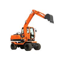 0.25m3 bucket XY65W-8 6ton small wheel excavator with gear pump for sale Manufactures