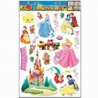 Cartoon Wall Decals, Non-toxic, Low-cadmium Standard, Various Styles are Available Manufactures