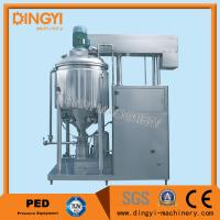 Buy cheap 1000-2000L Vacuum Homogenizer Mixer , Toothpaste Mixer Making Machine 220V/380V from wholesalers