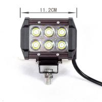 square 13.5 Inch 18W Automotive led work light for Excavator crane Manufactures