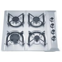 Stainless Steel Blue Flame 4 Ring Gas Hob With Thermocouple Safety Device Manufactures
