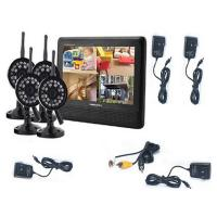 7 inch 4CH digital ip wireless security camera with DVR system and video Manufactures
