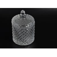 Elegant White Glass Dome Candle Holder PersonalisedGlass Jars With Lid Manufactures
