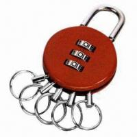 Combination Padlock/Bag Lock with Three Digits and Keychain, Measuring 57 x 37 x 12mm Manufactures