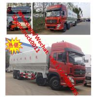 Factory customized dongfeng 8*4 LHD Euro 3 315hp diesel 40m3 poultry feed transported vehicle for sale, bulk feed truck Manufactures