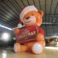 Mini 2.6M Oxford Inflatable Bear / Inflatable Model Bear With LED Light For Advertising /  Decoration Manufactures