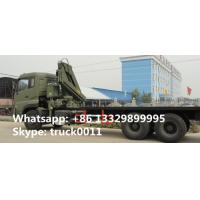 Quality DongFeng 6*4 folding boom mounted truck folding boom truck crane, factory sale dongfeng 210hp 12tons truck with crane for sale
