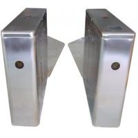 China ID Card High Capability Dual Way Stainless Retractable Flap Barrier for Bus Station RS485 on sale