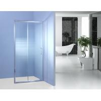 Fixed Glass Sliding Shower Door 700MM 90 Degree Magnetic Type Shower Surround Panels Manufactures