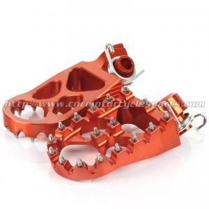 CNC Billet Aluminum Dirt Bike Foot Pegs For SX 125 250 300 EXC 200 250 300 Manufactures
