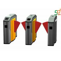 High Security Low Noise Flap Barrier Gate Metro Entrance Turnstile Manufactures