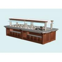 L6800xW1800xH(850+650)MM Wood Structure Marble Stone Hot Buffet Counter, Commercial Buffet Equipment Manufactures