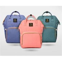 Waterproof Pink Baby Diaper Bags, Mummy Baby Changing BackpackWith Hardware Pendant Manufactures