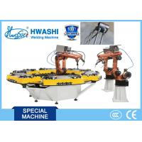 HWASHI Six Axis MIG Industrial Welding Robots with Rotate Table Manufactures
