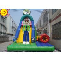 Multicolor PVC Inflatable Combo Cartoon Man Slide With Tunnel 12*5*8mH Manufactures