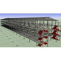 Prefabricated Light Workshop Steel Structure For 4 Storey Dormitory Manufactures