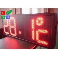 Time / Temperature LED Programmable Scrolling Message Signs P10 Auto Dimming By Sensor Manufactures