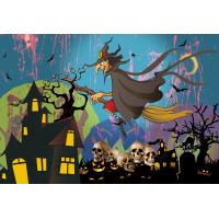 Custom 30*40cm Happy Halloween Poster Lenticular Flip With 0.6mm PET For Party Decoration Manufactures