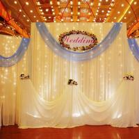 drape for pipe wedding backdrop event decoration videos