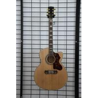 Free shipping China handmade J2002 nature cut away electric acoustic guitar Manufactures