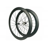 Alloy Black Hub Carbon Road Bike Wheels Matte / Glossy Finishing 23MM Rim Width Manufactures