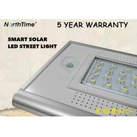 3000LM 30W All In One Solar Street Light With PIR Sensor In 5 Years Warranty Manufactures